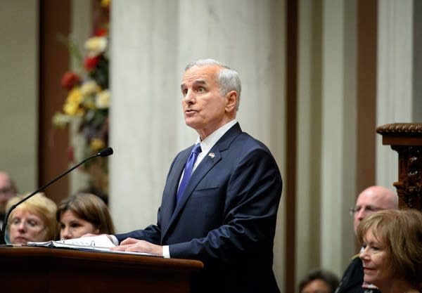 Gov. Mark Dayton delivered his annual address.