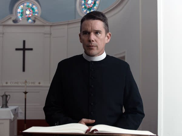 Ethan Hawke as Rev. Ernst Toller in 'First Reformed.'