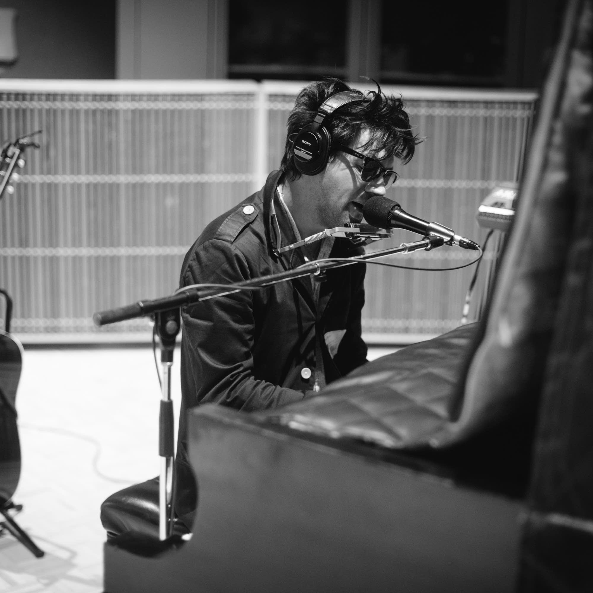 Conor Oberst in studio