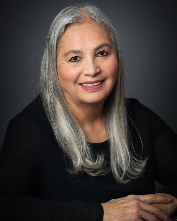 "Denise Lajimodiere, author of ""Stringing Rosaries."""