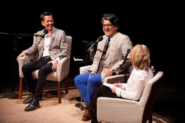 Authors Jess Walter and Sherman Alexie