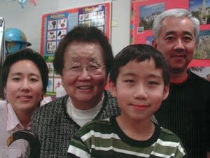 Helen Tsuchiya with her son Todd, his wife Connie, and their son Kyle