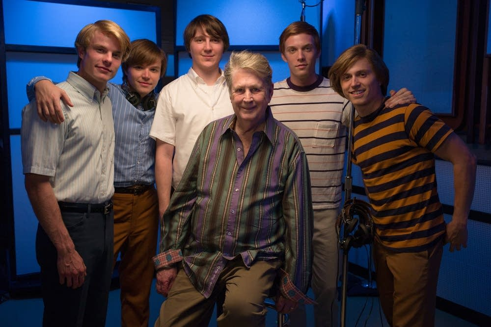 Brian Wilson with the actors
