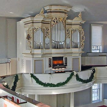 2002 Richards, Fowkes organ at First Church, Deerfield, Massachusetts