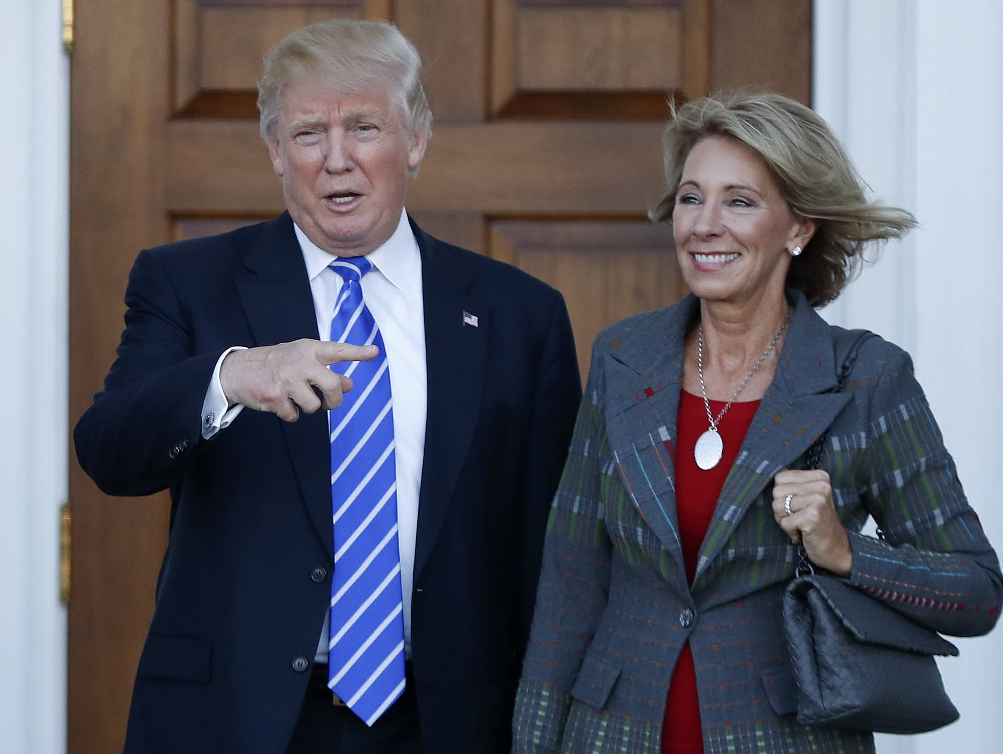 Donald Trump and Betsy DeVos