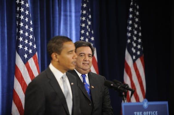 Obama and Richardson
