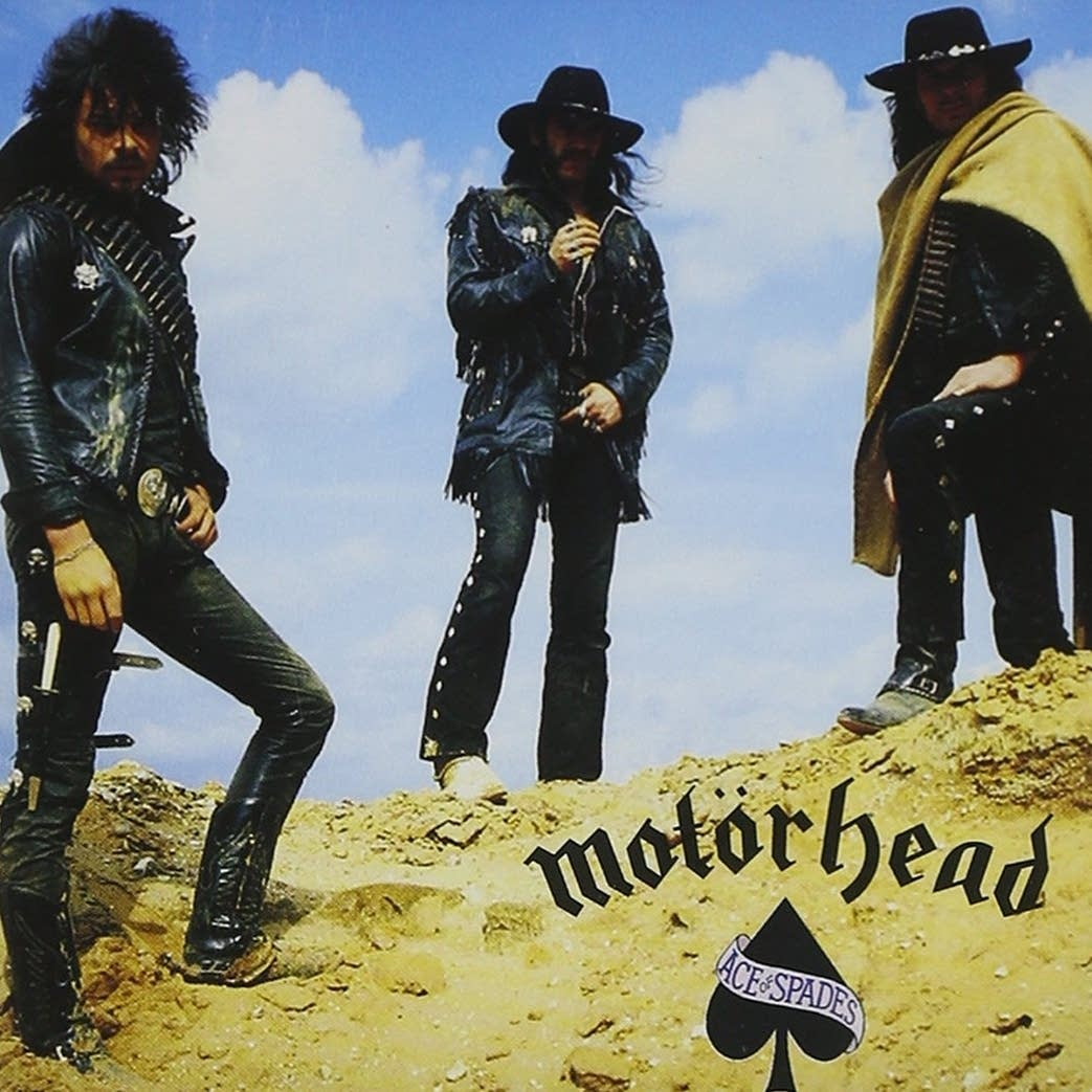 Cover art for Motorhead's 1980 album 'Ace of Spades.'