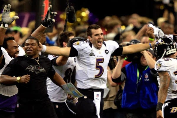 Ravens QB Joe Flacco