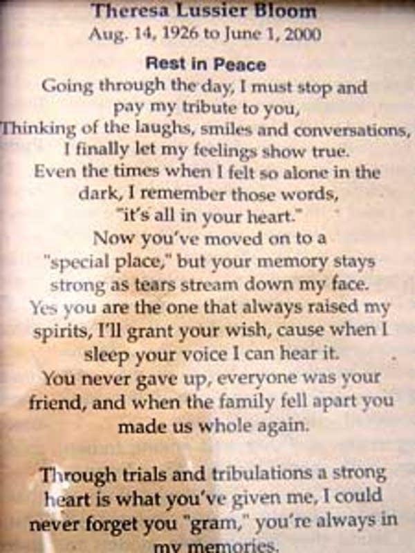 Poem for grandma