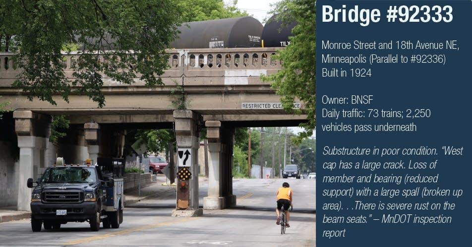 North bridge over Monroe Street, Minneapolis