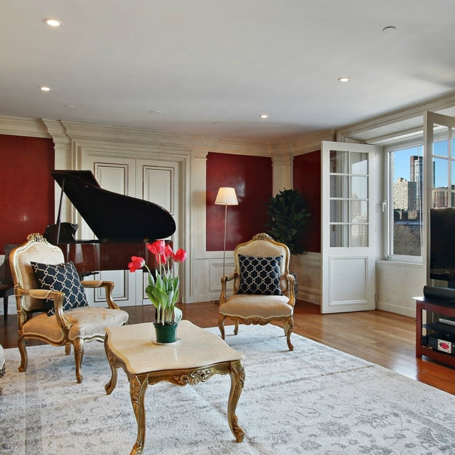 The interior of a New York apartment formerly owned by David Bowie