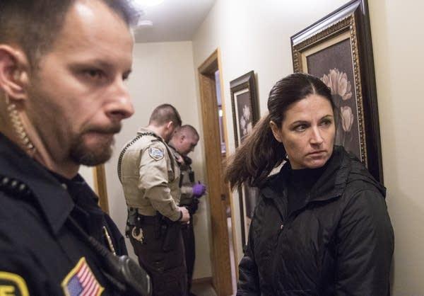 Social worker Megan Schueller and officer Vedran Tomic