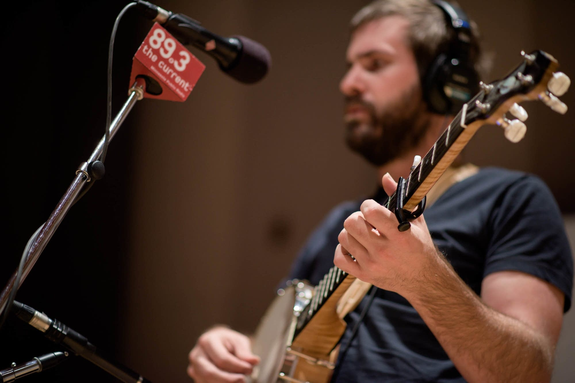 Josh Oliver of Mandolin Orange in studio