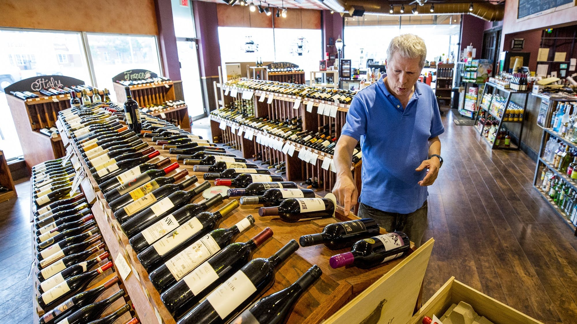 The Wine Shop owner Steve Pickard talks about the wine selection.