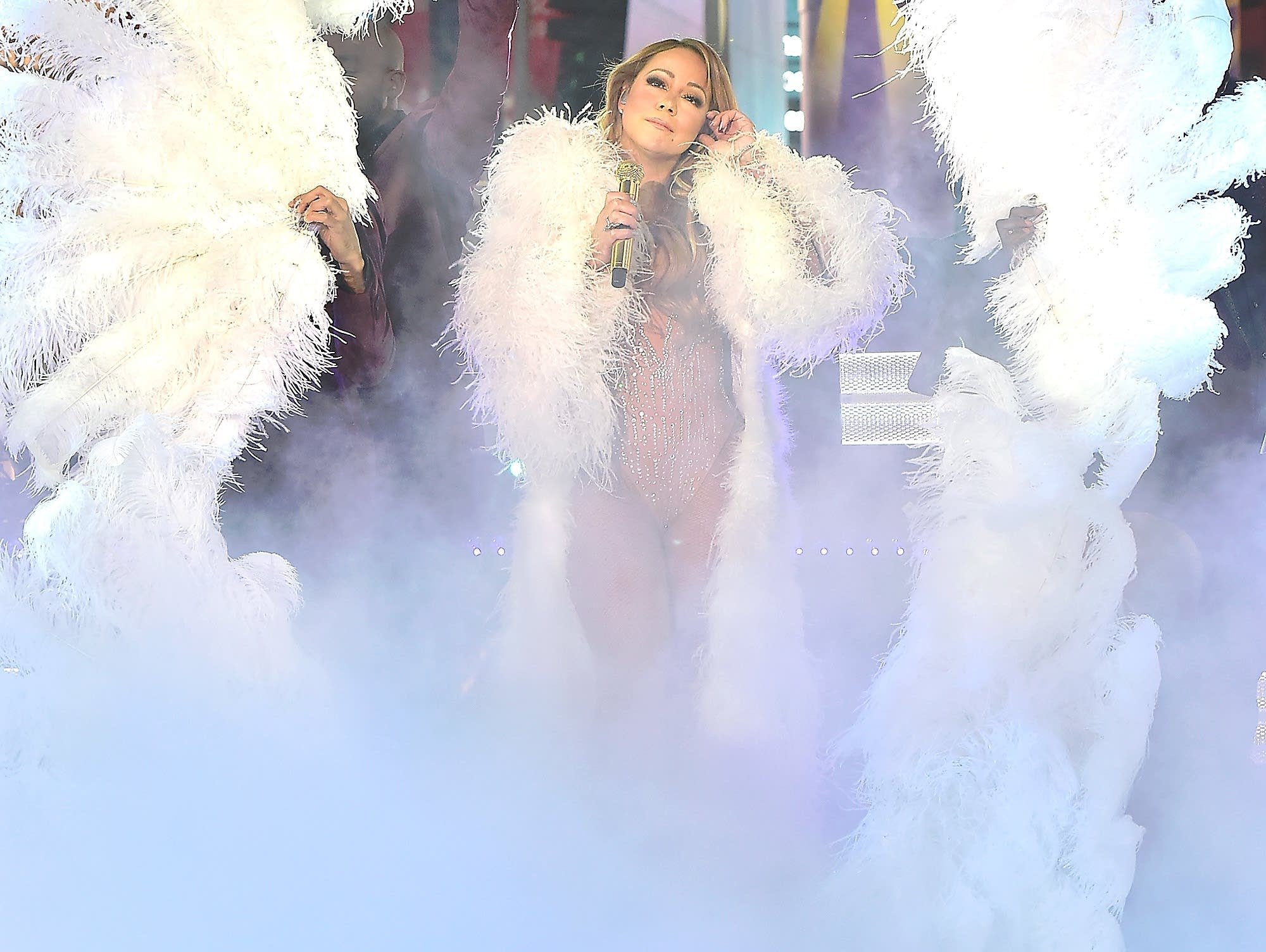 Mariah Carey performs on New Year's Eve