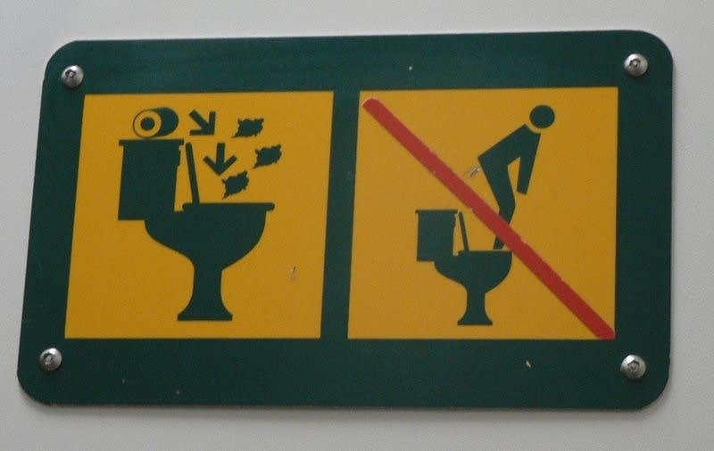 Toilet signs can be helpful -- and sometimes hilarity-inducing.