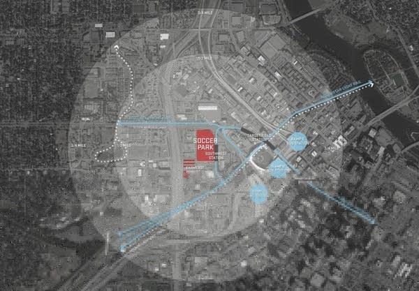 Site for proposed soccer stadium