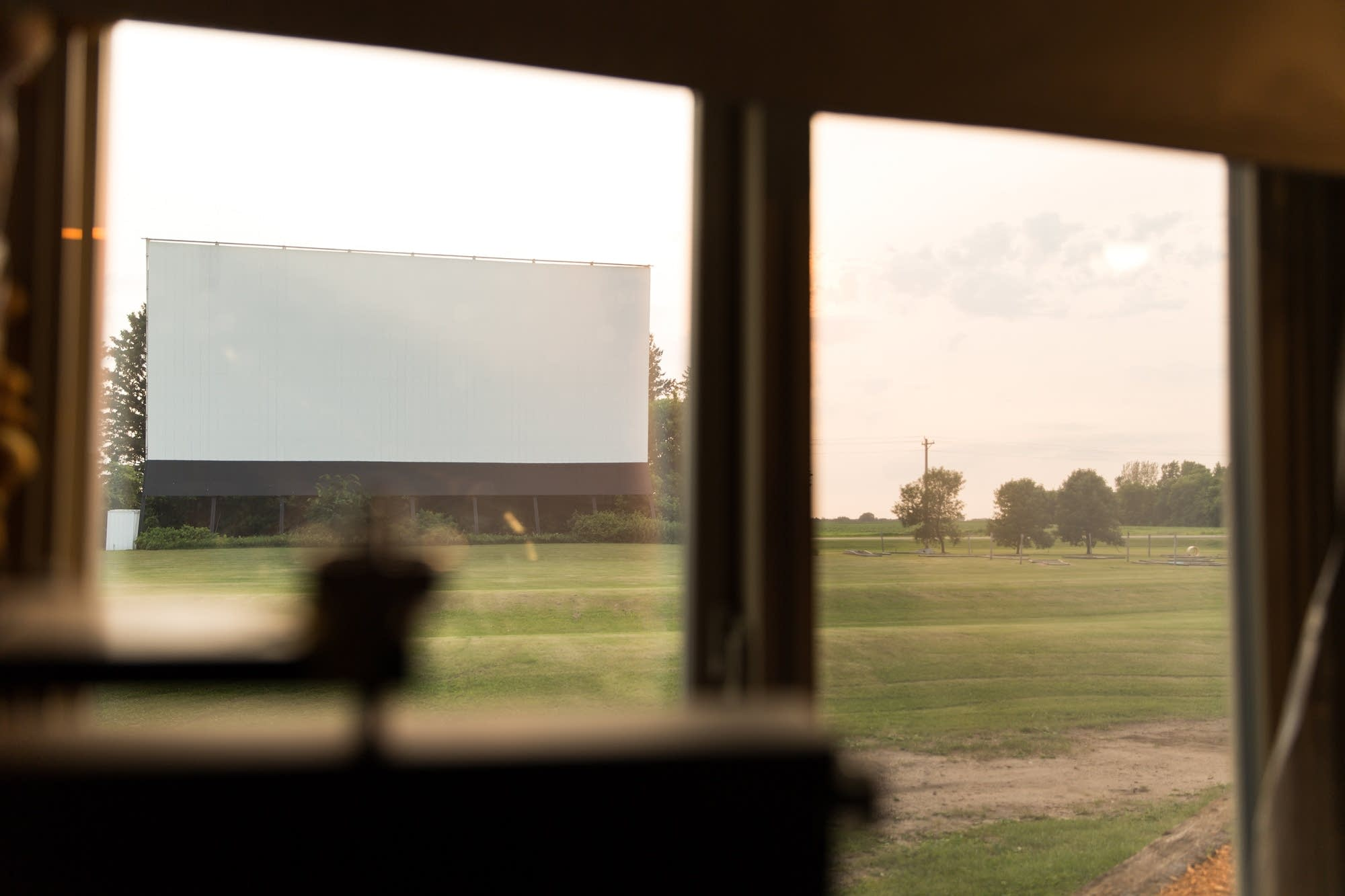 Screen one sits alongside Highway 22 in Litchfield, Minn.