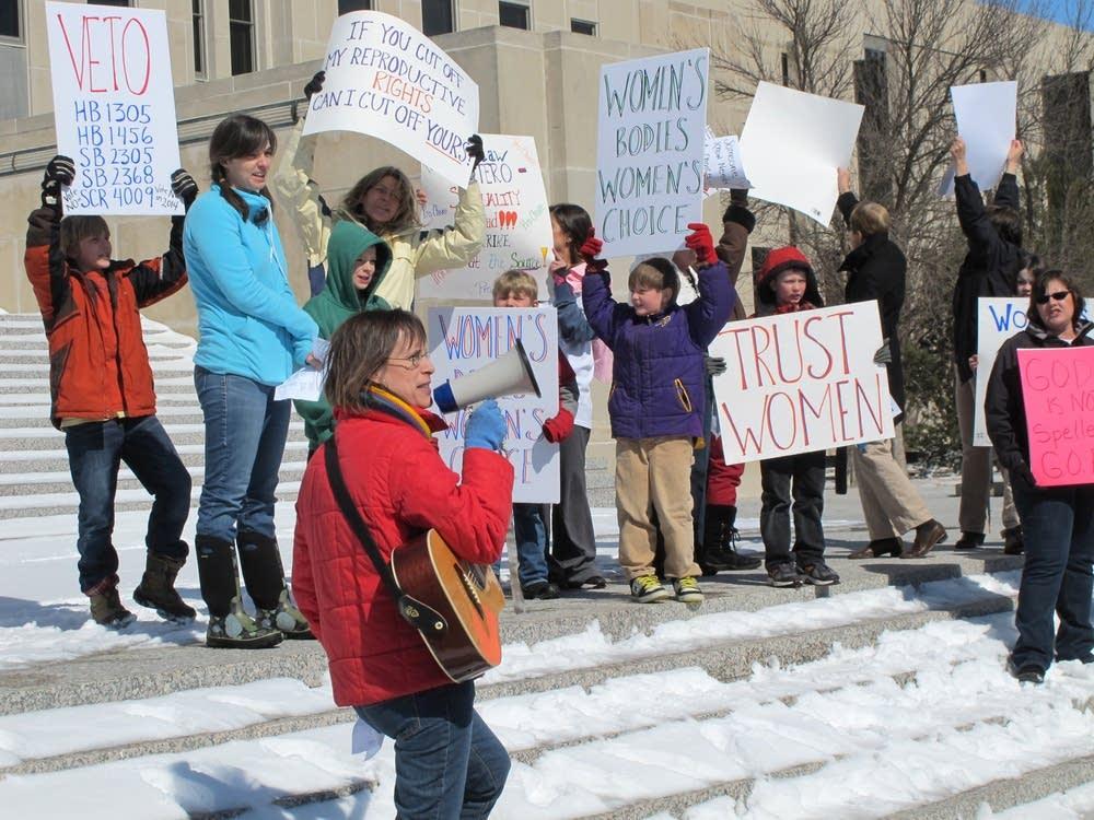 North Dakota abortion rally