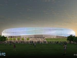 360 degree canopy over stadium