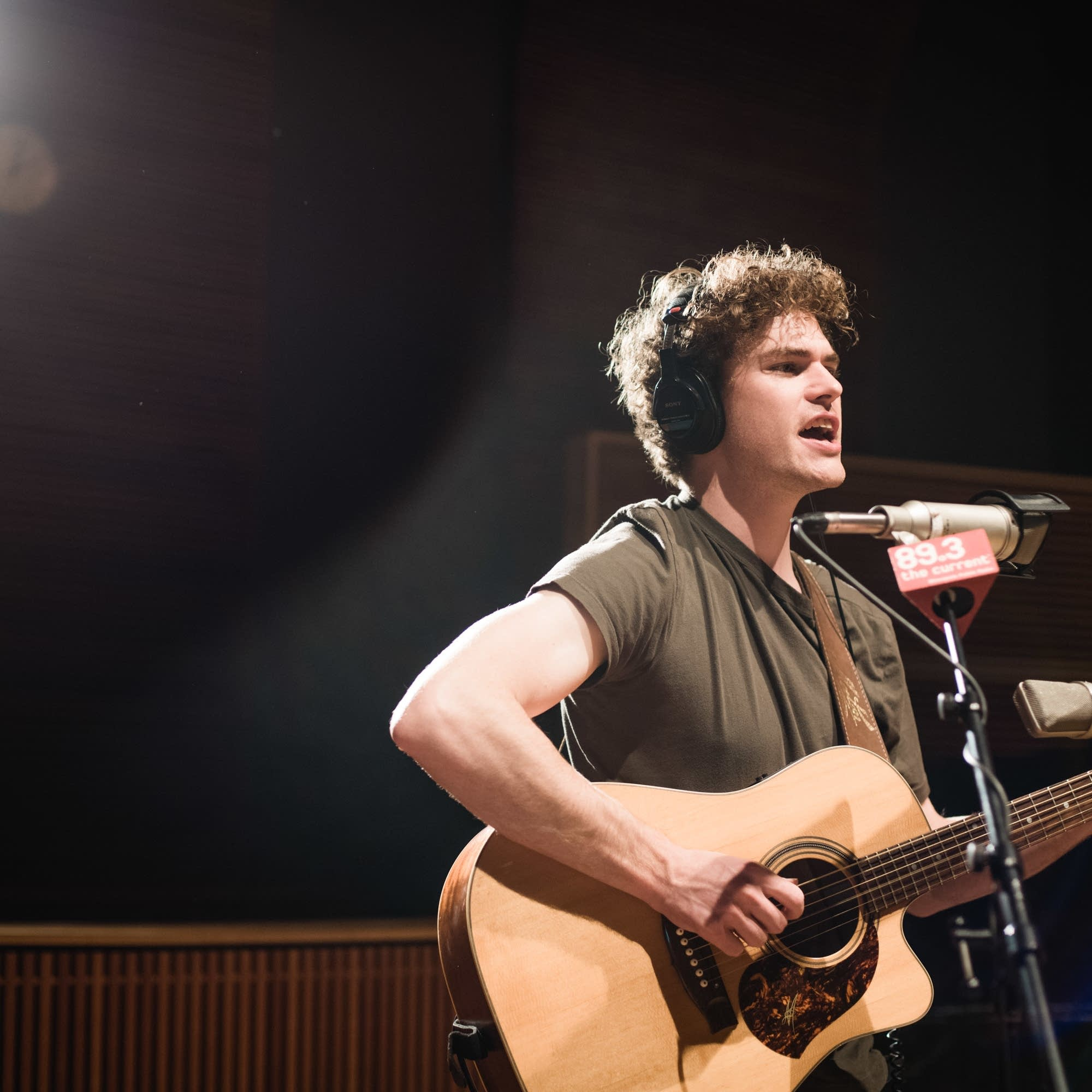 Vance Joy performs in The Current studio