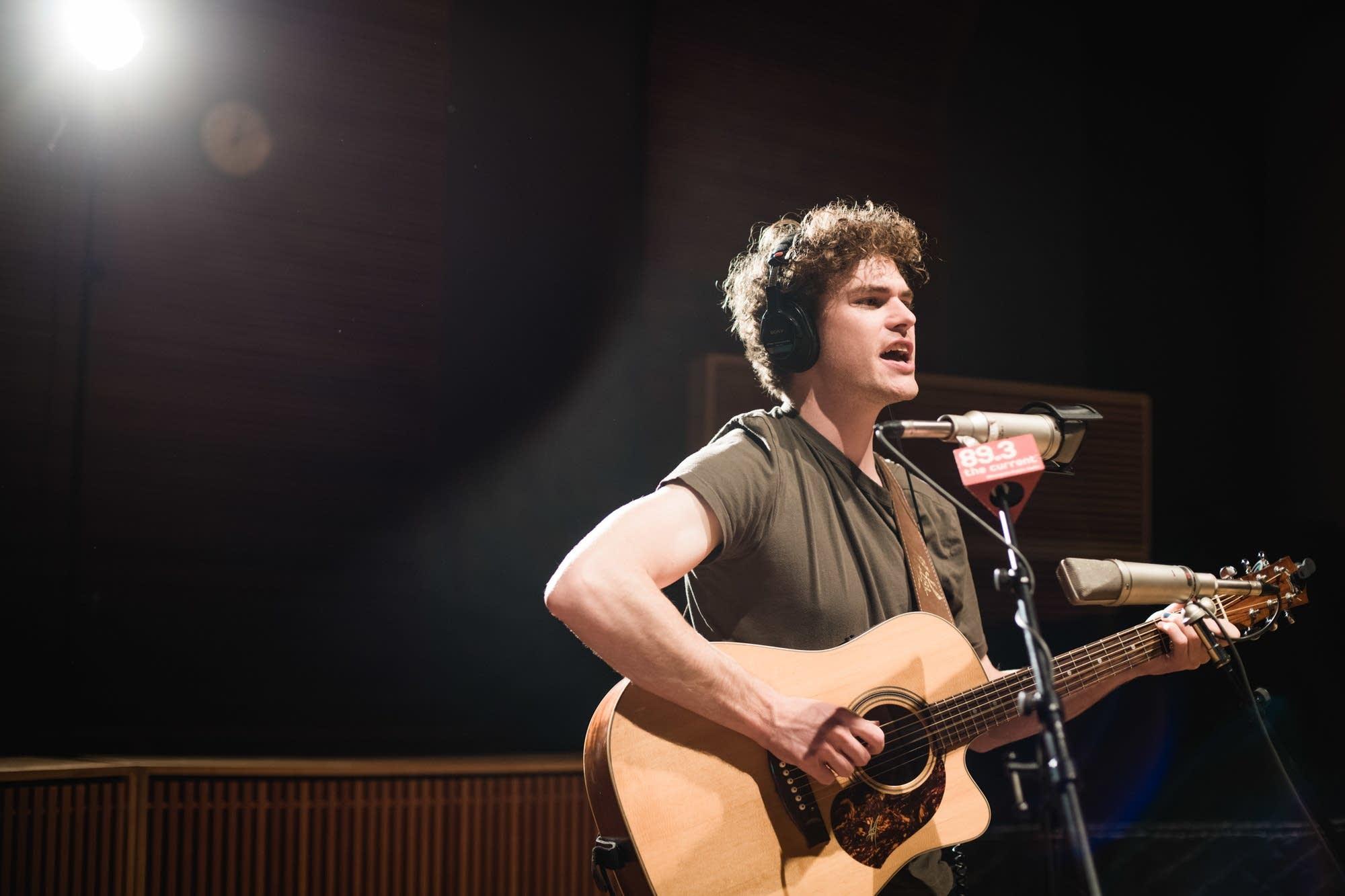 Vance Joy performs in The Current studio