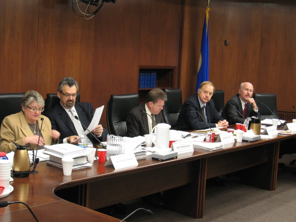 The State Canvassing Board reviews ballots
