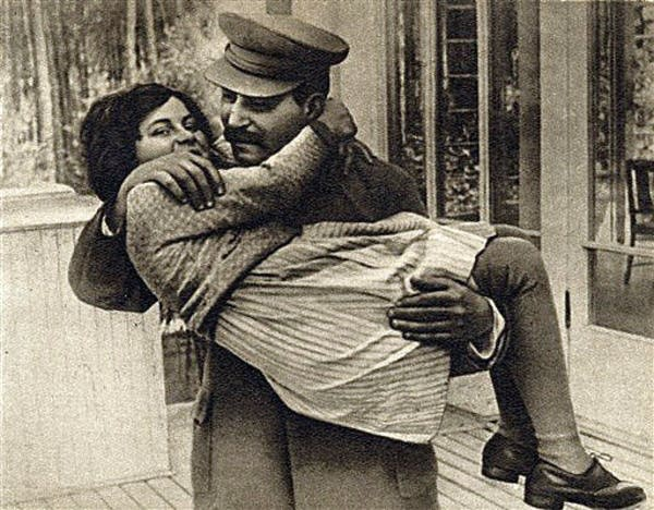 Stalin and his daughter