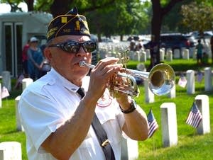 Roger Otte played taps for the 2018 Memorial Day observance.