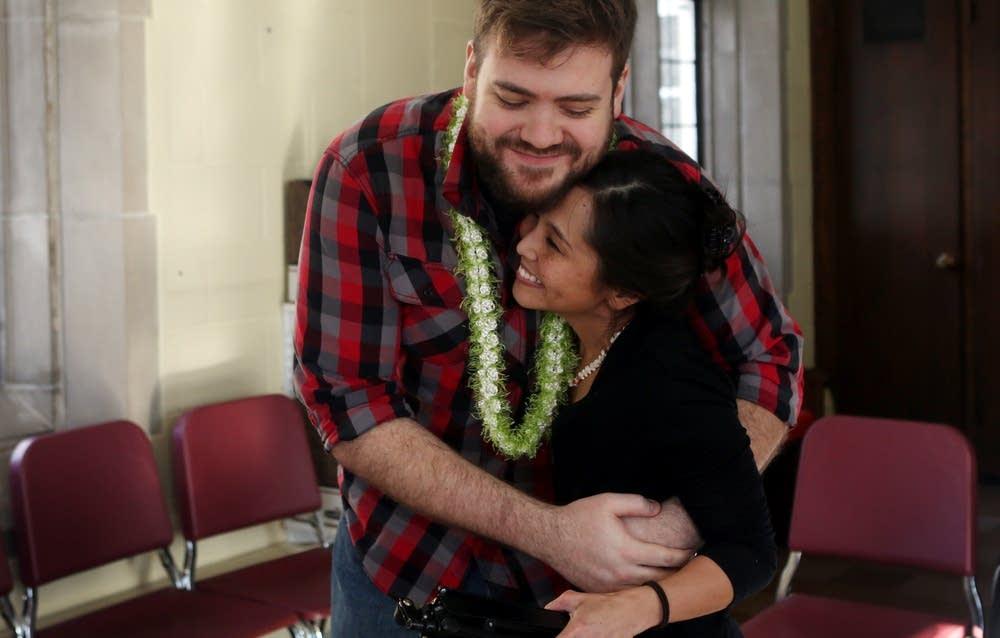 Rehearsal hug