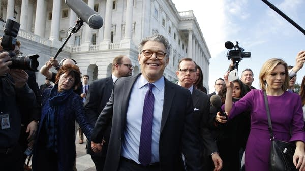 U.S. Sen. Al Franken and his wife, Franni Bryson