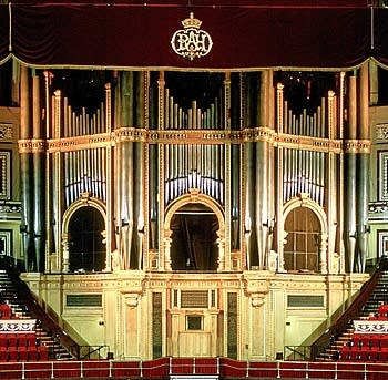 1871 Henry Willis; 1924; 1933 Harrison & Harrison; 2004 Mander organ at Royal Albert Hall, London, England, UK