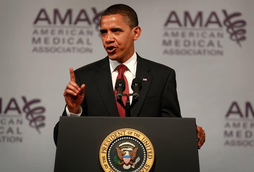 President Obama speaks to the AMA