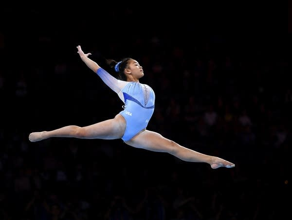 St. Paul's Sunisa Lee performs on floor exercise