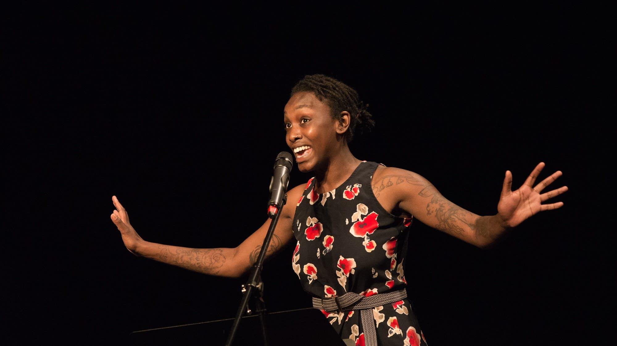 Black Poets Speak Out reading at the Penumbra