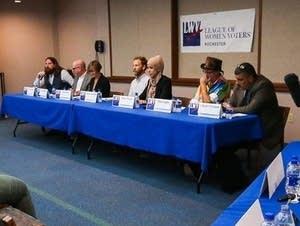 Rochester mayor candidates participate in debate.