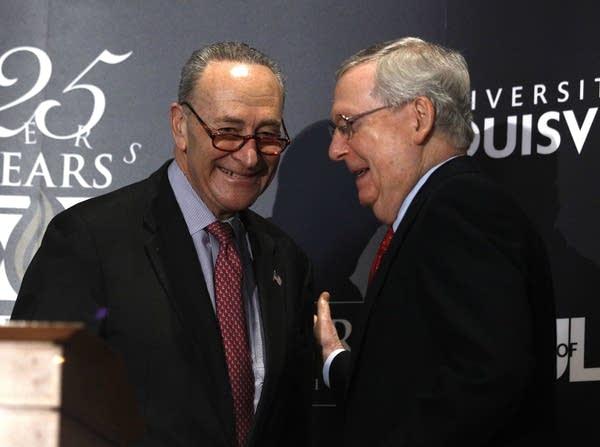 Senate Democratic Leader Chuck Schumer, Republican Leader Mitch McConnell.