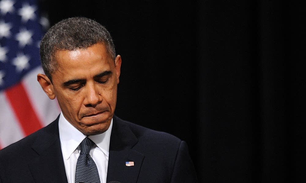 President Obama speaks to Newtown mourners