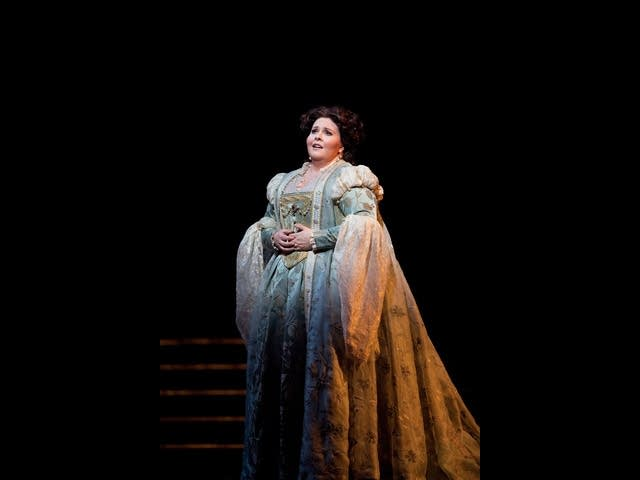 Angela Meade as Elvira in Verdi's