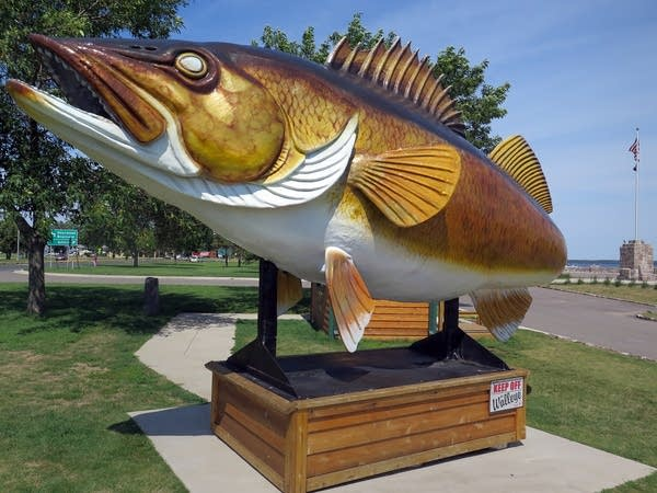 Garrison's walleye statue