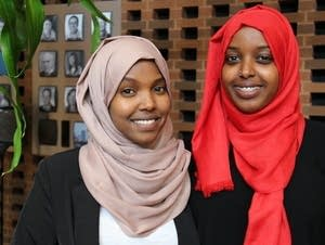 Khadra Fiqi, left, and Hodo Ibrahim