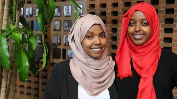 Khadra Fiqi, left, and Hodo Ibrahim