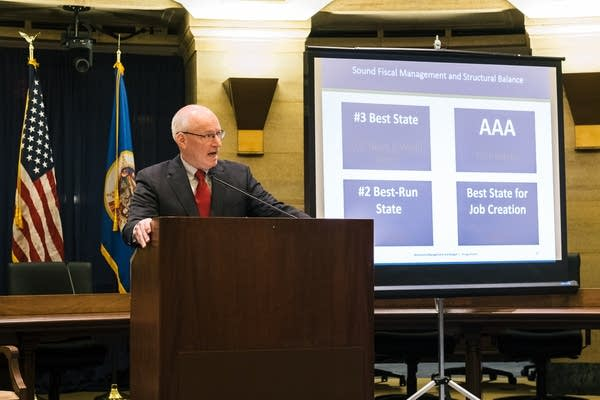 Myron Frans discusses the state budget.