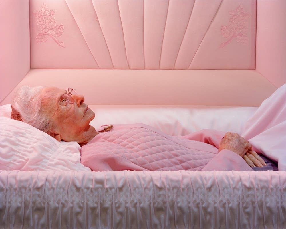 Grandma in casket