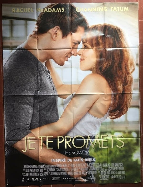 Rachel McAdams and Channing Tatum embracing in the movie poster for The Vow