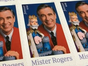 The U.S. Postal Service released a stamp featuring Mister Rogers.