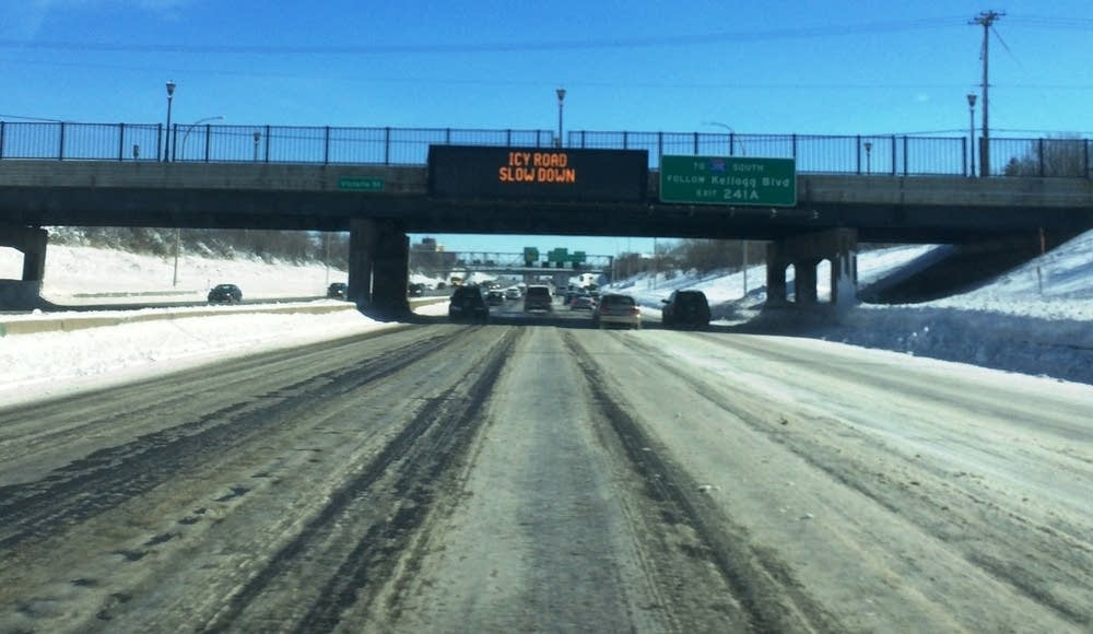 Conditions on Eastbound 94 in St. Paul