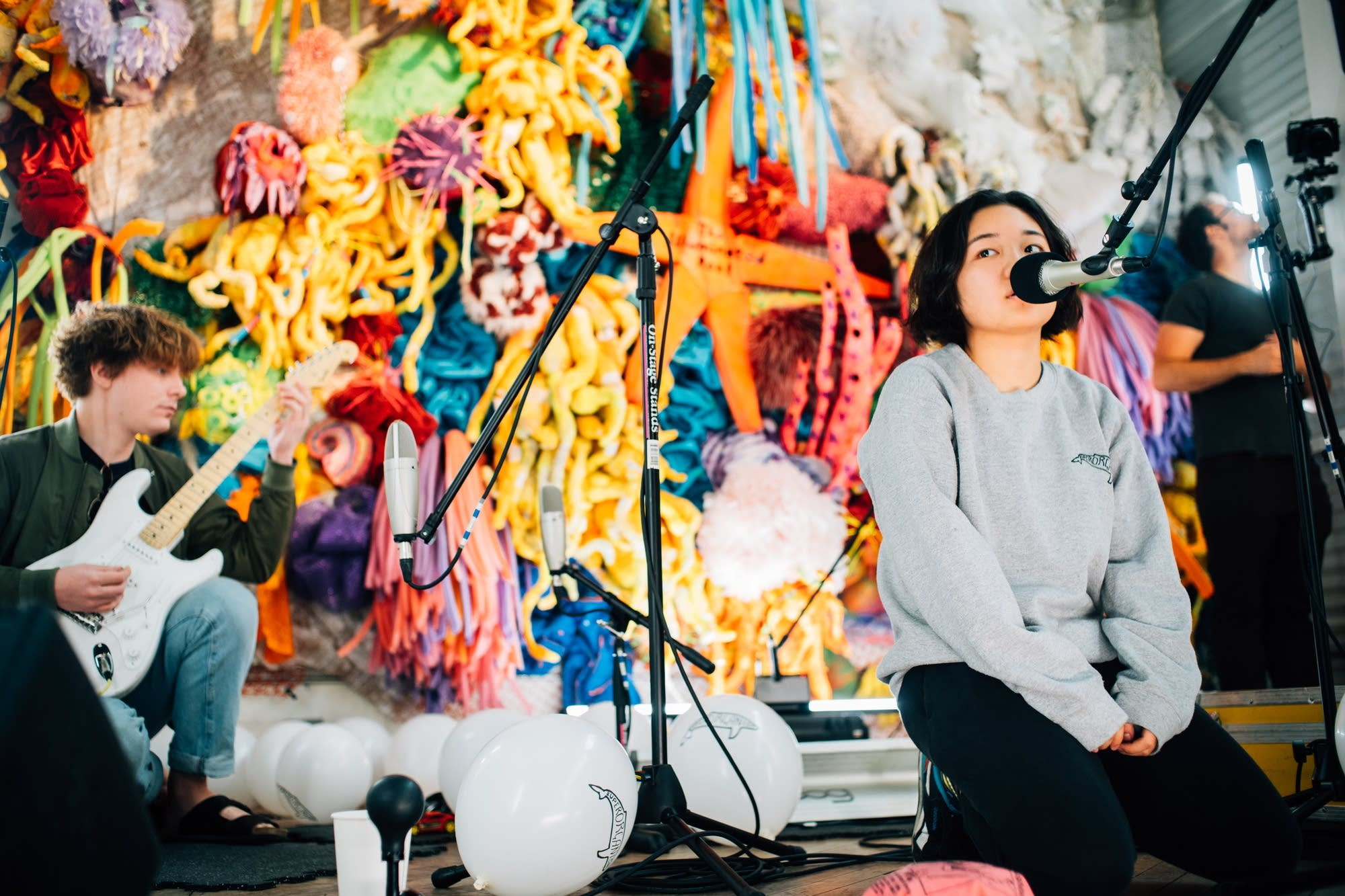 Superorganism perform a MicroShow at Can Can Wonderland