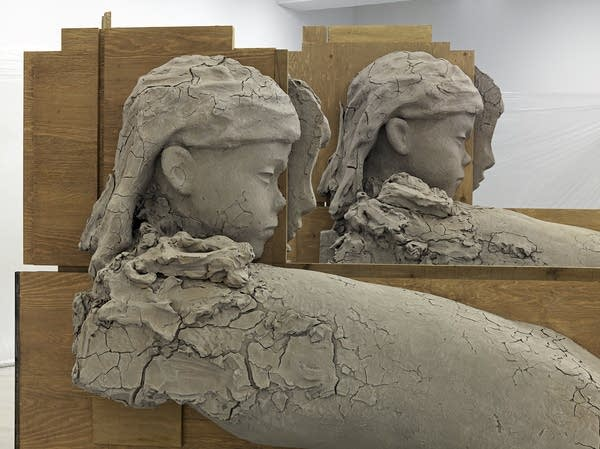 Mark Manders figures in progress