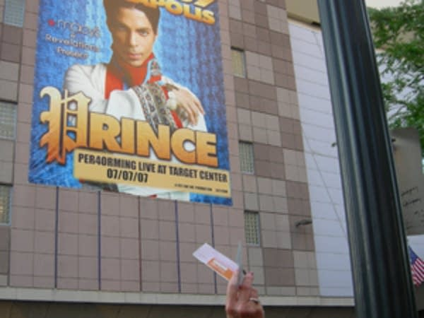 Scalped tickets for sale at the Prince concert